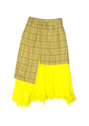 Double layered Skirt with Distressed Edge