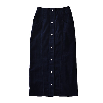 Navy Corduroy Maxi Skirt
