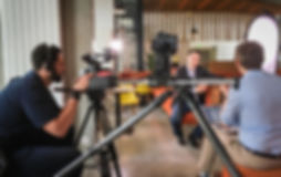 Interview and testimonial shoot with camera operators