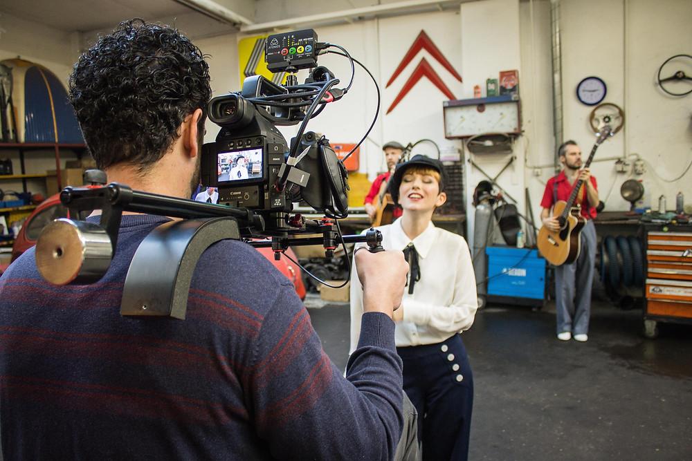 Music video shooting - Marina and the Kats