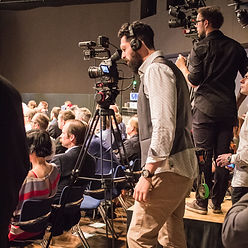 camera team cover vienna conference event shoot