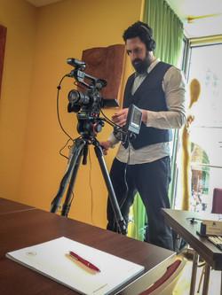 Filming a seminar in Vienna