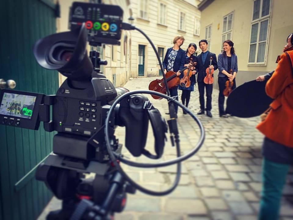 Promo Video Shoot - Camera on a Tripod