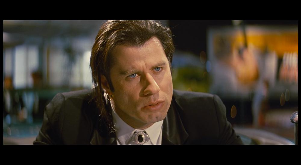 Tarantino Film Analysis Head on shot - Vincent