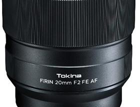 Tokina Announces New FiRIN 20mm F/2 FE Autofocus Lens for E-Mount Cameras