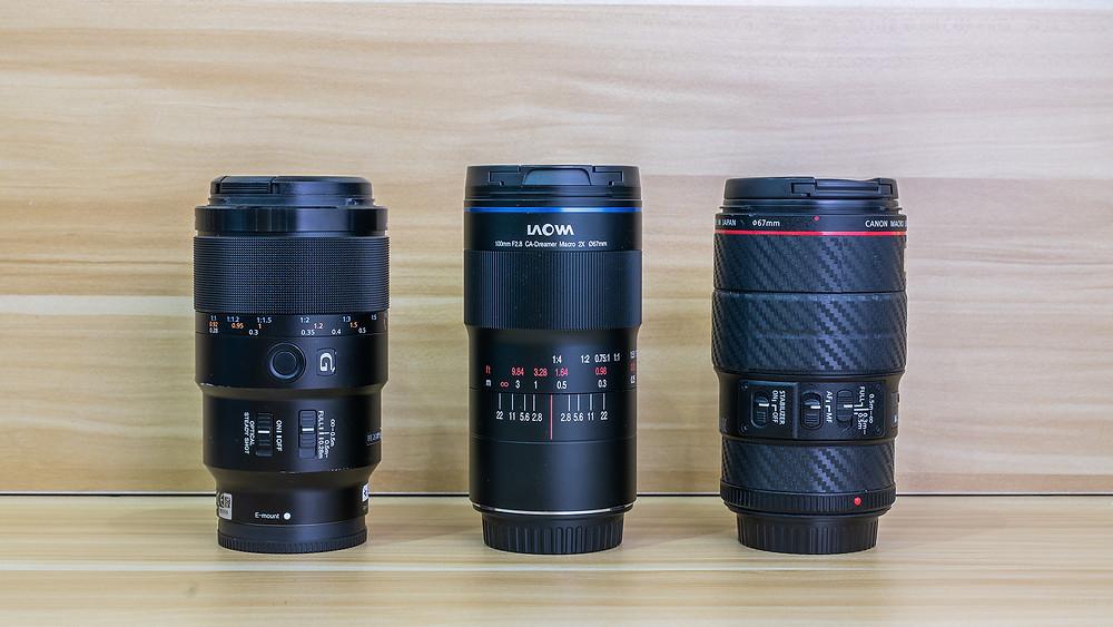 video camera lens comparison