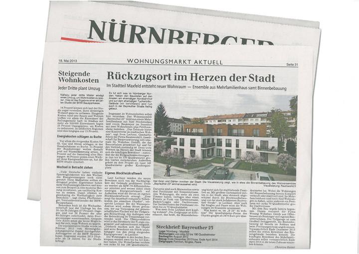 Wir freuen uns über einen Beitrag in den Nürnberg Nachrichten!