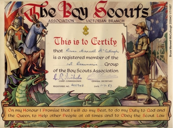 Scout Certificate