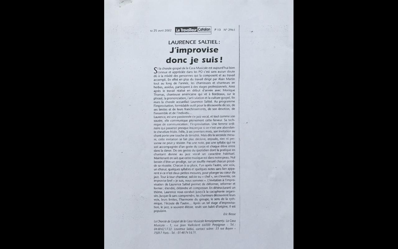 Casa Musicale-Le travailleur Catalan 2002