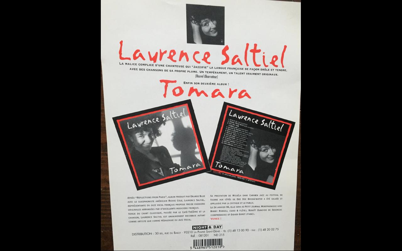 TOMARA Album 1994 flyer 2