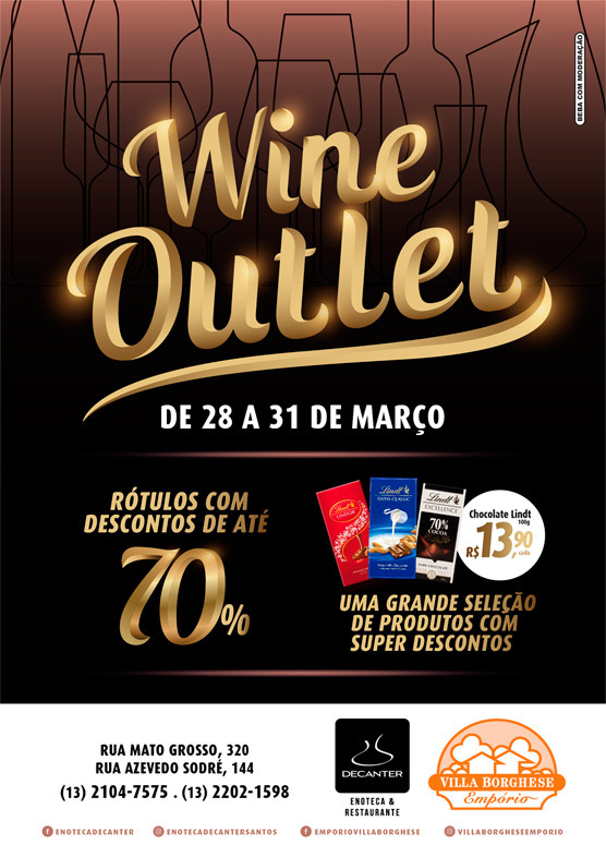 Wine Outlet 2019 - 28 a 31 de Março