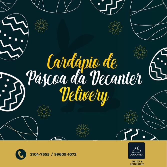 Cardápio de Páscoa Decanter - Delivery