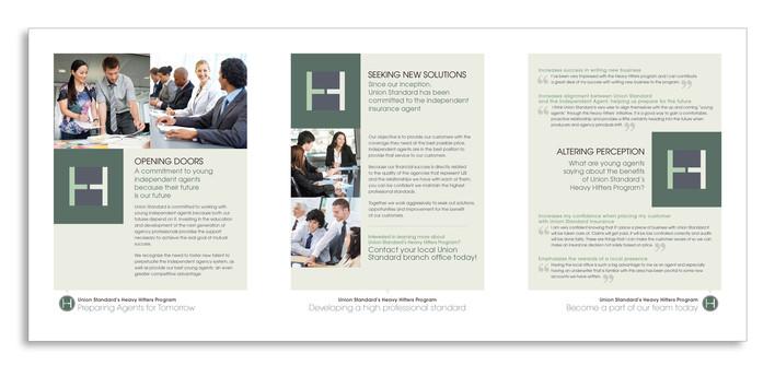 Union Standard Insurance - Heavy Hitters Program - Inside Spread