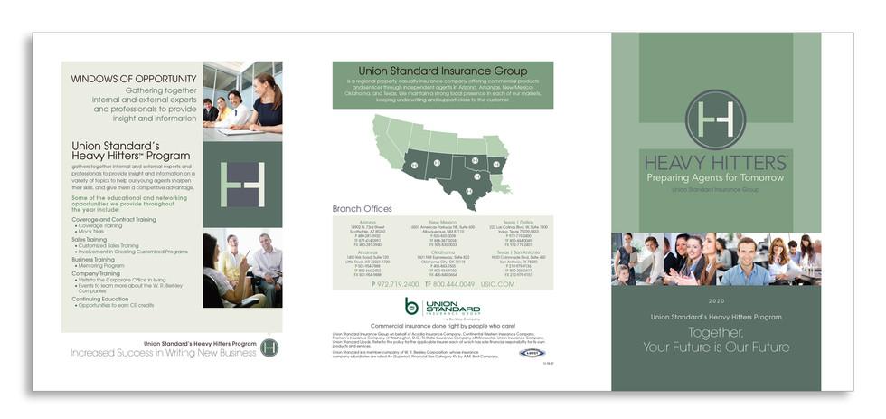 Union Standard Insurance - Heavy Hitters Program - Cover Spread