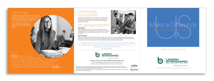 6-Panel Brochure - Cover and Back Spread
