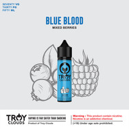 They say blood is thicker than water. What better blood than to be a BLUE BLOOD among commoners. Be a royal and freeze yourself in our BLUE BLOOD limited edition.  AVAILABLE IN : Short Fill, 0, 3, 6 mg BLEND : 70VG/30PG