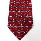 捺染方式のプリントネクタイのアップ