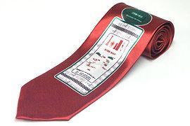 タクシー乗り場の案内看板柄のプリントネクタイ