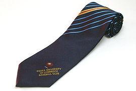 ロゴポイント柄のクラブ用のジャガードネクタイ