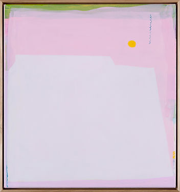 Alizon Gray, Pink, Alizon, Landscape, Abstract, Absstract Painting