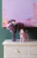 Alizon Gray Abstract Painting Artwork