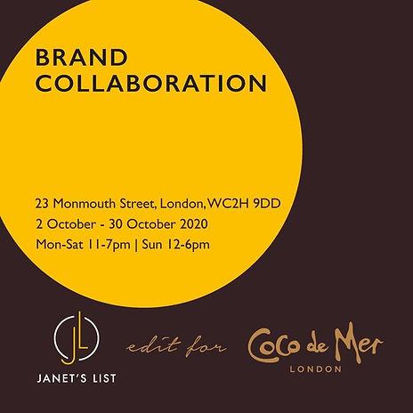 Coco de Mer x Janet's List Black History Month Pop-up