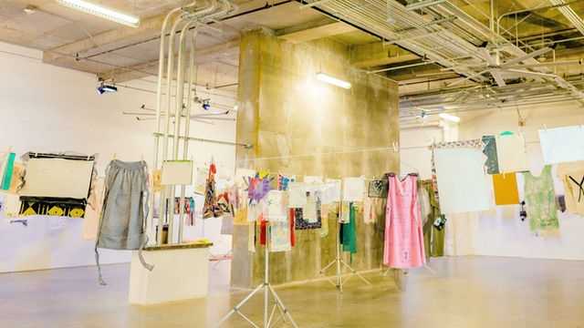 """Virtual Viewing of the Airing Out the """"Dirty"""" Laundry Installation at The Mint Museum Uptown"""