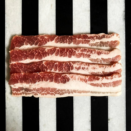 WHITE STREAKY BACON