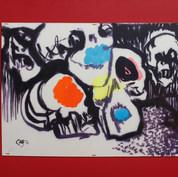 Las cuencas de tus ojos 1976 Mixta / papel 51.4 cm x 64.6 cm
