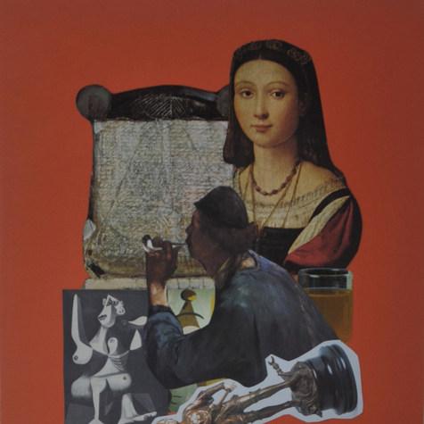 La bella 1990 Collage / cartón 58.8 cm x 47.8 cm