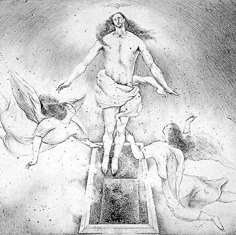 Ascensión del Señor 1952 Lápiz / papel 72 cm x 79 cm