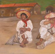 En la sierra del Nayar 2002 Acrílico / papel 64 cm x 77.5 cm