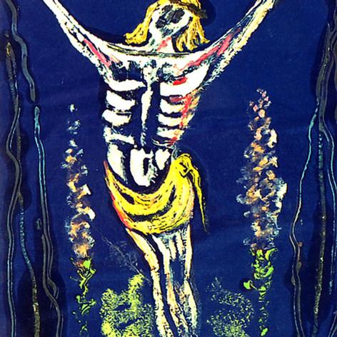 Cristo implorando 1988 Óleo / papel 68 cm x 55 cm