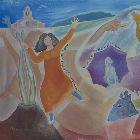 El muerto al pozo y la viuda al gozo 1995 Acrílico / tela 93 cm x 125 cm