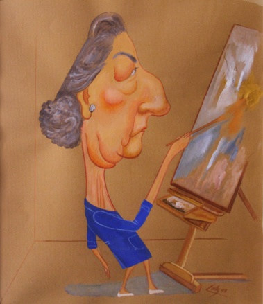Pintora Emilia Ortiz 1999 Gouache / papel 73.5 cm x 65 cm