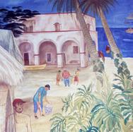 Memoria del viejo San Blas 1996 Óleo / tela 69.8 cm x 259.7 cm