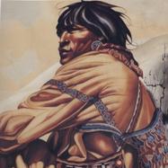 Huichol sentado s/f Gouache / papel 63 cm x 48 cm