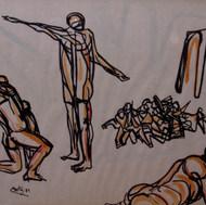 Designios 1989 Plumón / papel 50 cm x 72 cm