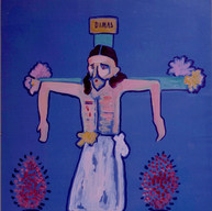 Dimas 1991 Acrílico / papel 82 cm x 62 xm