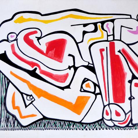 Central Park 1996 Mixta / cartón 76 cm x 102 cm
