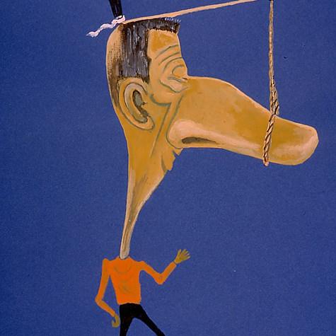 Arturito Gómez Virgen. ¡Pero qué te parece! 1999 Acrílico / papel 61.5 cm x 48 cm