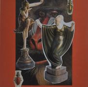La Belle Époque 1990 Collage / cartón 66 cm x 50.4 cm