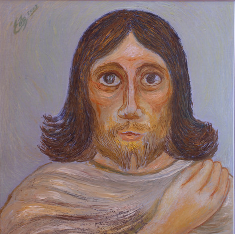 Cristo 2002 Óleo / papel 70 cm x 90.5 cm