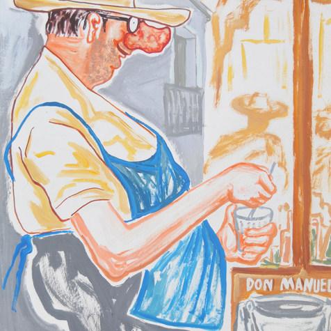 Don Manuel 1974 Acrílico / papel 58.5 cm x 44.5 cm