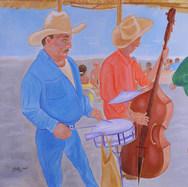 Músicos 2004 Acrílico / madera 95 cm x 133 cm