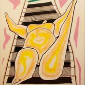Gimnasta sobre tapete 1995 Mixta / cartón 105.5 x 80.3 cm