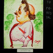 Chato Forestal. ¡Soñé siempre ser torero cual mi primo el Calesero! 1989 Plumón / papel 43 cm x 33 cm
