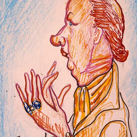 Lic. Eduardo Romano 1989 Mixta / papel 47.2 cm x 38.7 cm