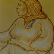 La mujer del artista 1994 Pastel al óleo / papel 37 cm x 30 cm