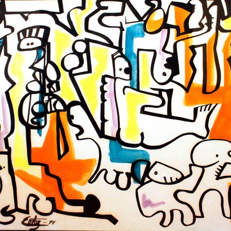 Regresión al pasado 1974 Tinta / cartón 78.4 cm x 104.2 cm